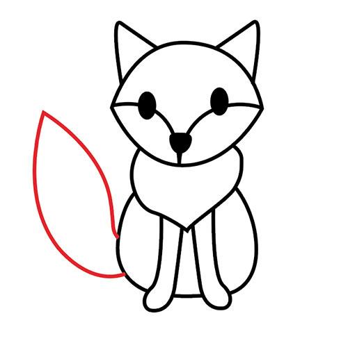 Рисуем хвост лисы