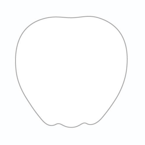Шаг 1 - Нарисуйте основной контур яблока