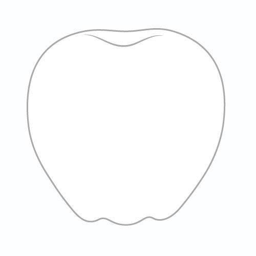 Шаг 2 - Нарисуйте «отступ» в верхней части яблока