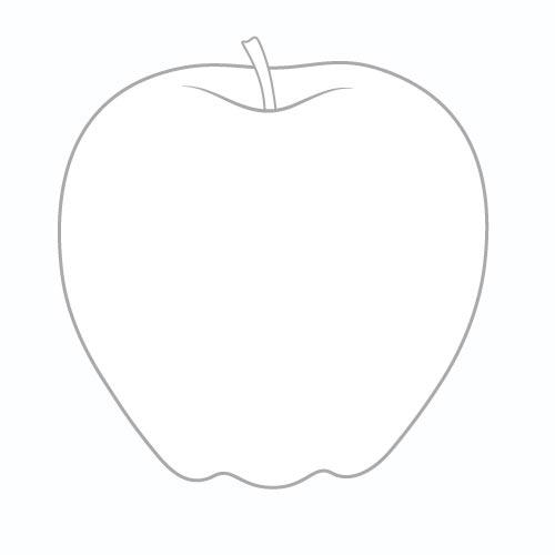 Шаг 3 - Нарисуйте черешок яблока