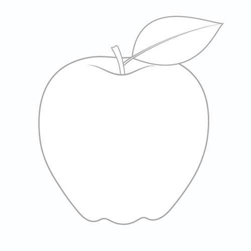 Шаг 4 - Нарисуйте лист на яблоке