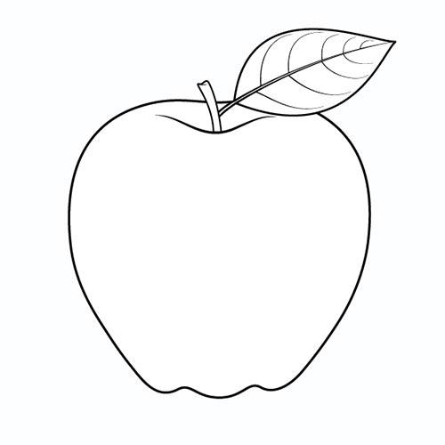 Шаг 5 - Обведите контур яблока