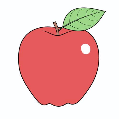 Шаг 6 - Раскрасьте яблоко