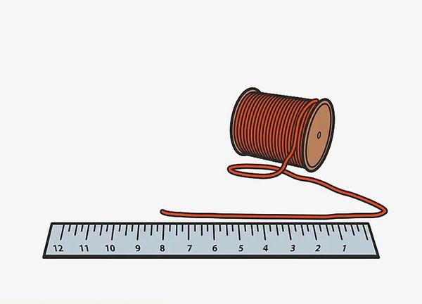 Для измерения обхвата головы можно воспользоваться верёвкой.