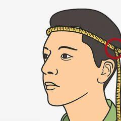 Обхват головы у взрослого человека. Размер головного убора - таблица у взрослых