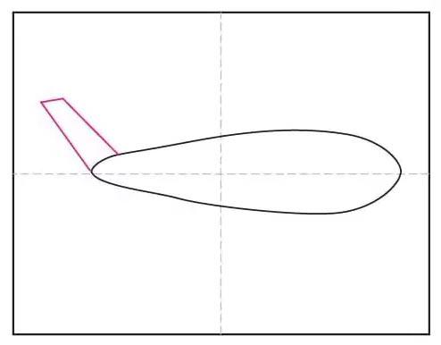 Рисунок самолёта карандашом для детей - Шаг 2