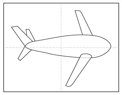 Рисунок самолёта карандашом для детей - Шаг 5