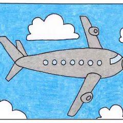 Рисунок самолёта карандашом для детей