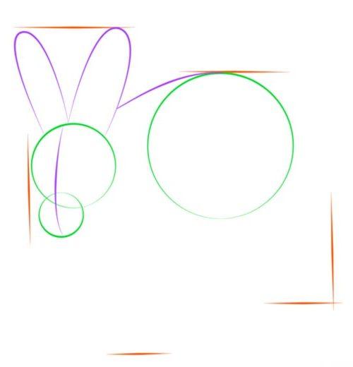 Как нарисовать зайца шаг 3