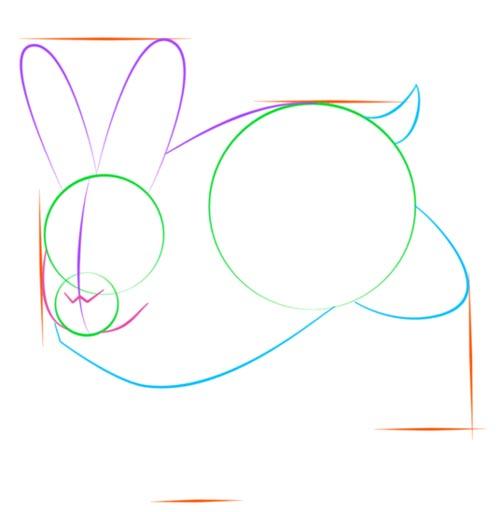Как нарисовать зайца шаг 5