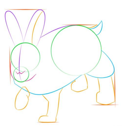 Как нарисовать зайца шаг 6