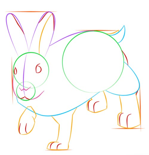 Как нарисовать зайца шаг 7