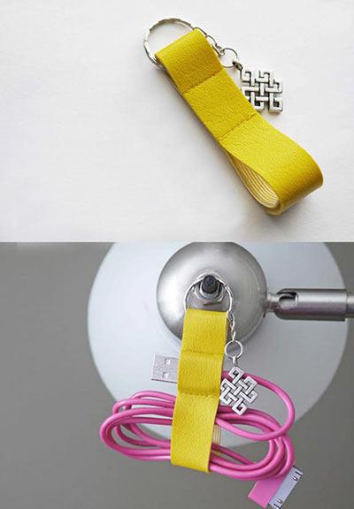 Брелок-органайзер для USB-кабеля своими руками
