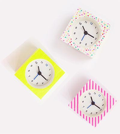 Часы и Washi Tape своими руками