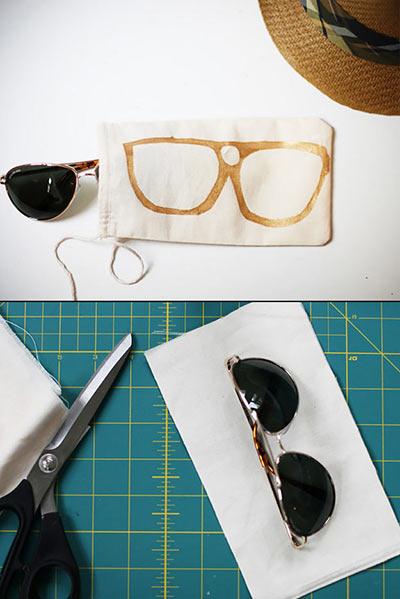 Чехол для солнцезащитных очков DIY своими руками