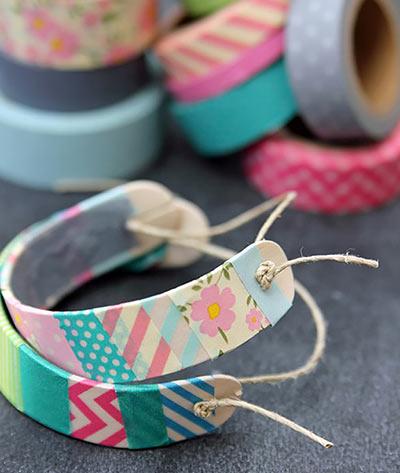 Деревянные браслеты с Washi Tape своими руками