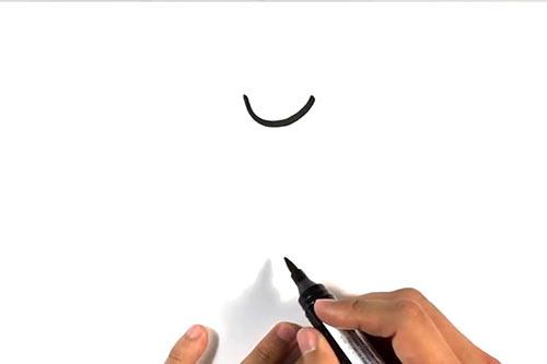 Как нарисовать летучую мышь - Шаг 1