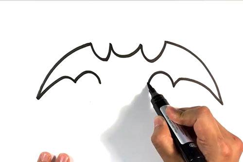 Как нарисовать летучую мышь - Шаг 4