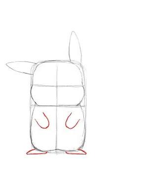 Как нарисовать Пикачу - Шаг 6