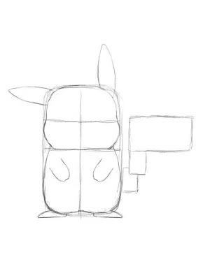 Как нарисовать Пикачу - Шаг 8