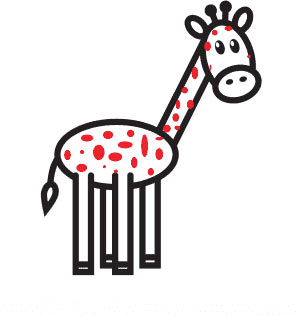 Как нарисовать жирафа - Шаг 8
