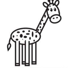Как нарисовать жирафа легко и быстро карандашом поэтапно для детей