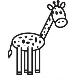 Как нарисовать жирафа - Шаг 9