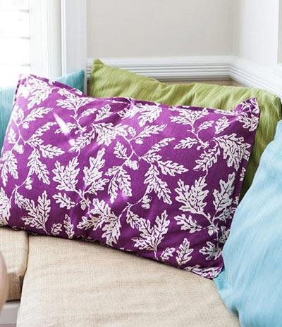 Наволочка для подушки без шитья своими руками