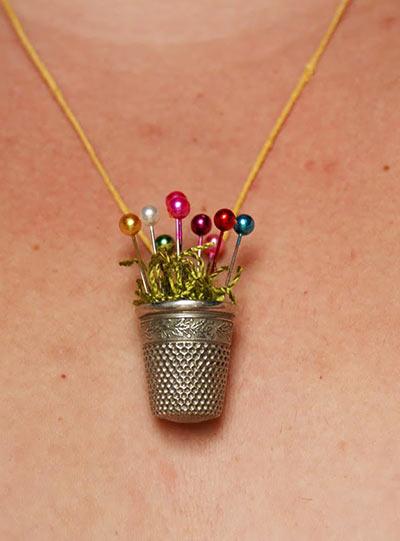 Ожерелье из наперстка своими руками