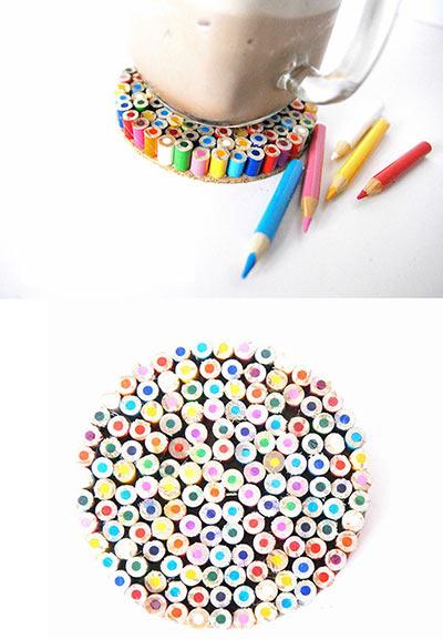Подставки из цветных карандашей своими руками