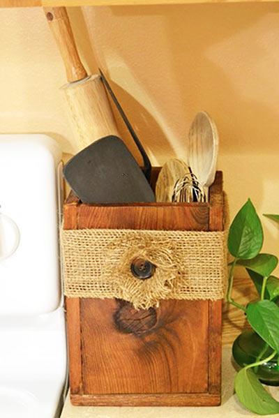 Деревянный ящик для посуды для вашей кухни своими руками