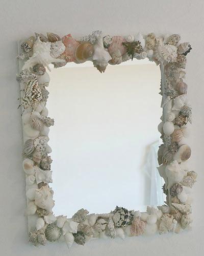 Зеркало с рамкой из морских ракушек своими руками