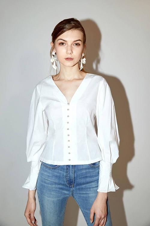 Недорогая белая рубашка от Miss Sixty