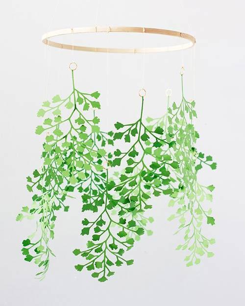 Растения вырезанные из бумаги для декора спальни