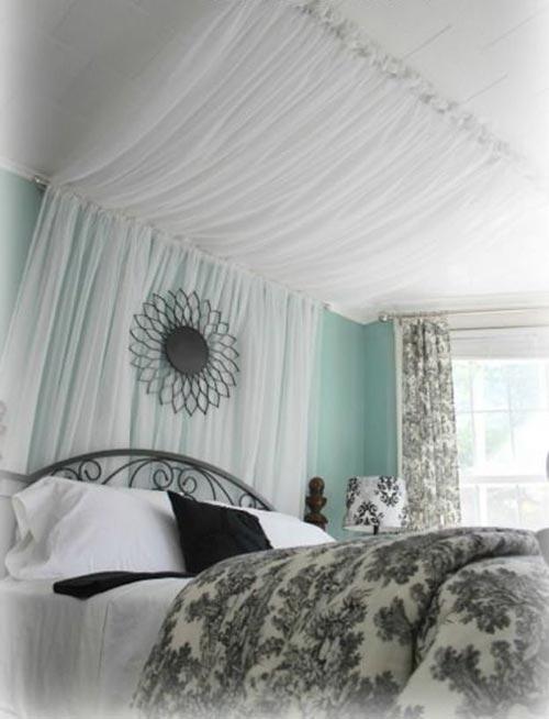 Занавески с балдахином для декора спальни