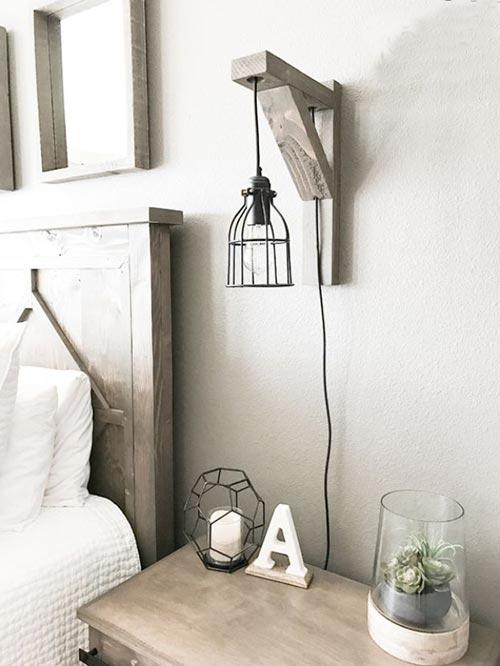 Настенный ночник-бра для декора спальни