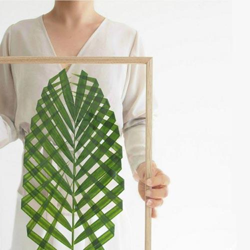 Картина из растений (Leaf Art) для декора спальни