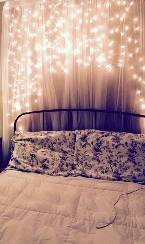 """Стена """"сказочного света"""" для декора спальни"""