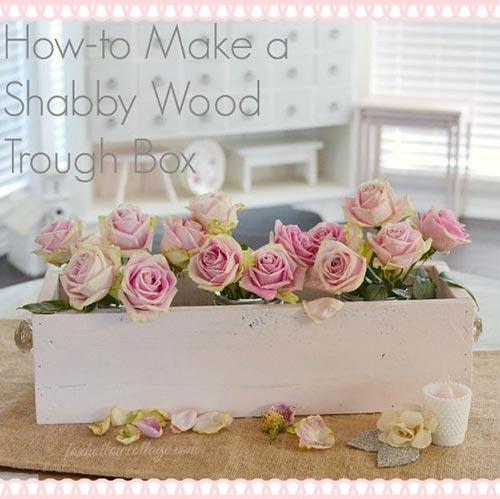 Деревянный ящик для декора спальни