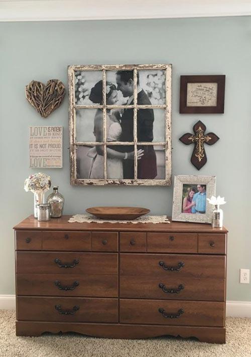 """Стена-галерея """"Любовь и брак"""" для декора спальни"""
