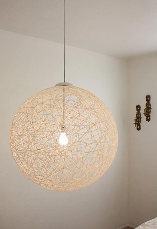 Подвесной светильник для декора спальни