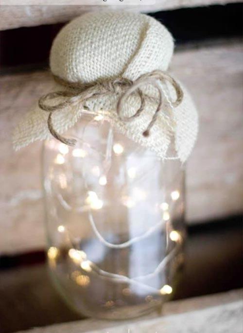 Светильник из банки для декора спальни