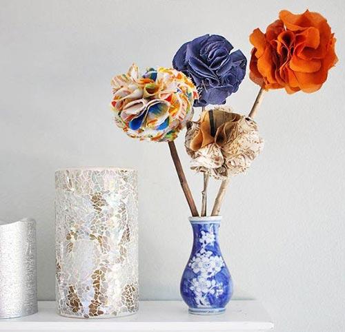 Цветы из ткани для декора спальни