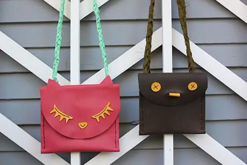 Кожаные сумки для детей из старых кожаных вещей