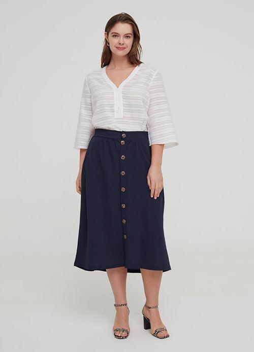 Недорогая однотонная юбка от OVS