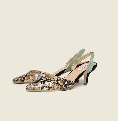 Недорогие туфли-лодочки с ремешком на пятке от Motivi