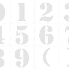 Трафарет цифры от 1 до 10 распечатать и вырезать