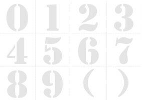 Трафарет цифры от 1 до 10 на листе A4