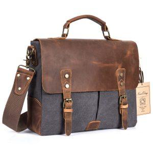 Подарок папе - кожаная сумка в винтажном стиле