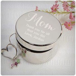 Подарок маме - персонализированная шкатулка
